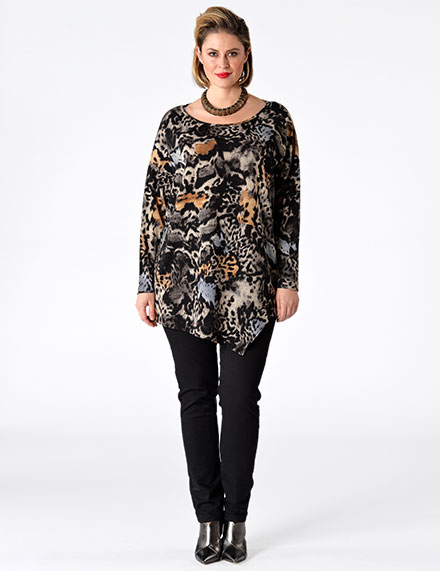 Yoek Plus Size Fashion Animal Patterns