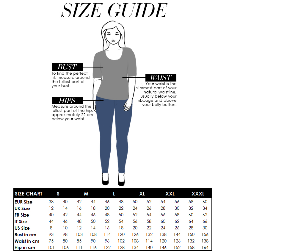 Plus Size Yoek Size Guide