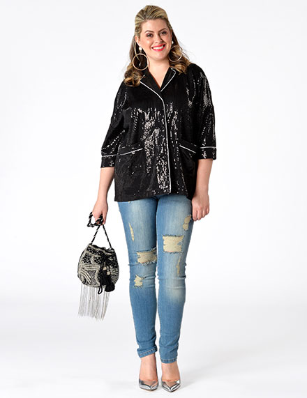 Plus Size Clothing with Sequins